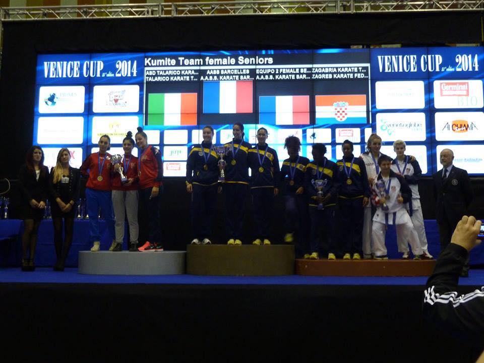 Podiums des équipes féminines
