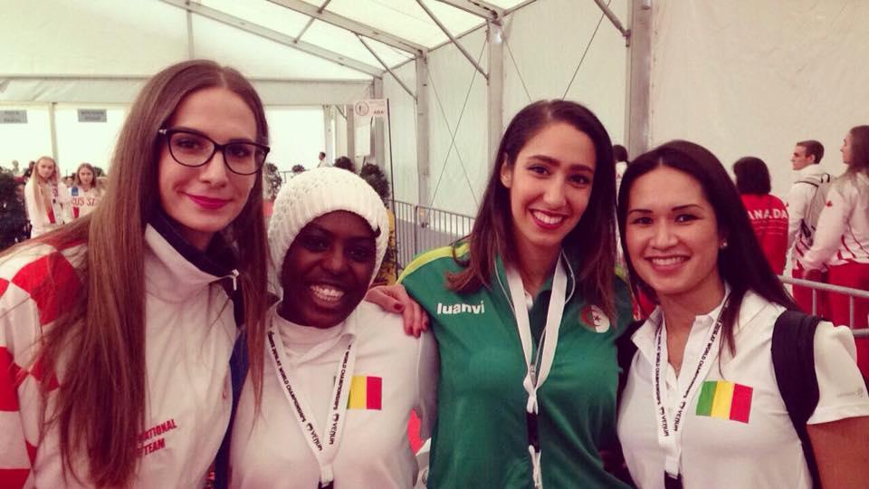 Equipe Féminine de Sarcelles aux Championnats du Monde